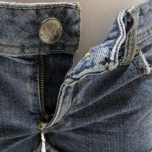 Fragile Shorts - Fragile shorts 5 denim jean distressed cuffed fray